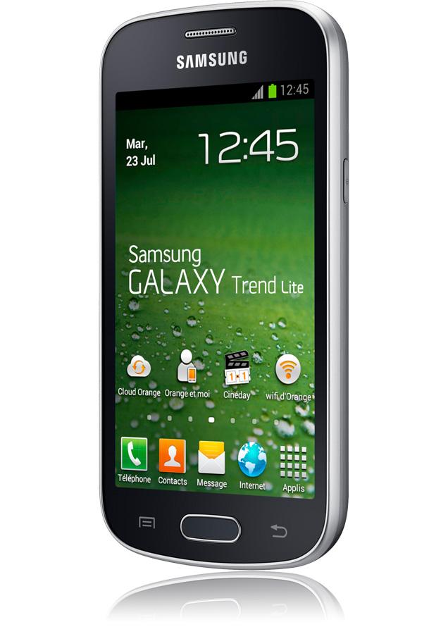 Samsung galaxy trend lite noir appareil photo 3 mpxls cran 4 android 4 1 orange - Telephone portable samsung galaxy trend lite ...