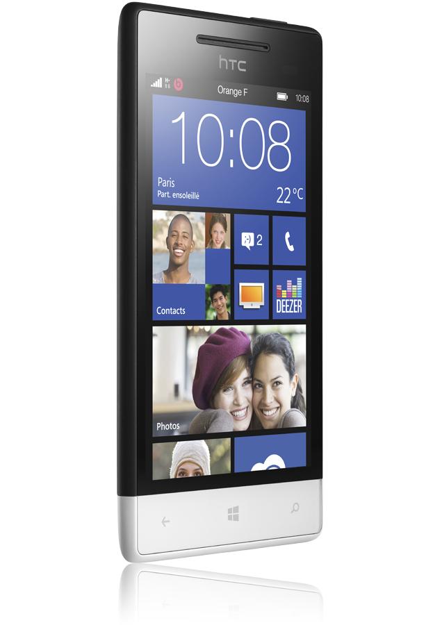 windows phone 8s par htc noir et blanc reconditionn windows phone 8 cran 4 pouces orange. Black Bedroom Furniture Sets. Home Design Ideas
