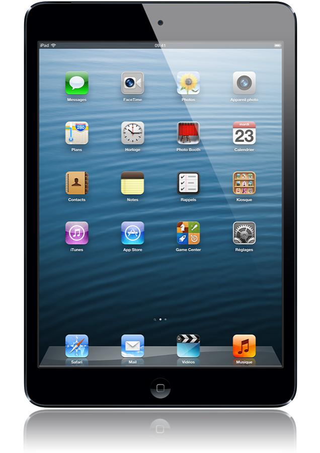 ipad mini 16 go noir ardoise le premier ipad mini d 39 apple toujours aussi perfromant offre. Black Bedroom Furniture Sets. Home Design Ideas