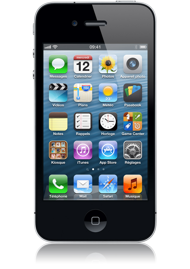 apple iphone 4 16go noir occasion ios 5 apn 5 mxpls facetime orange mobile. Black Bedroom Furniture Sets. Home Design Ideas