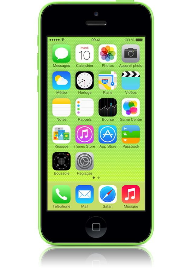 iphone 5c 8go vert avis et prix avec forfait. Black Bedroom Furniture Sets. Home Design Ideas