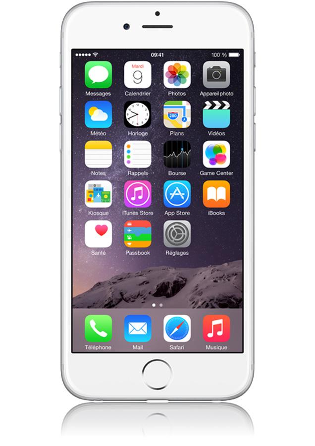 apple iphone 6 argent 16go 4g puce a8 m8 cran 4 7 pouces orange. Black Bedroom Furniture Sets. Home Design Ideas