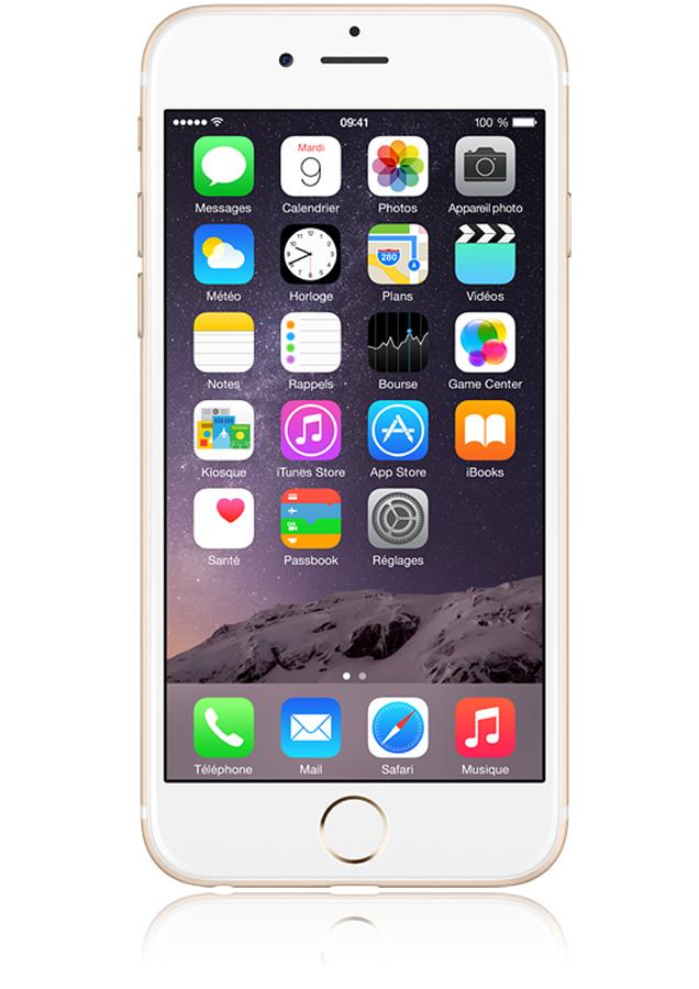 Apple iphone 6 or 16go 4g puce a8 m8 cran 4 7 pouces orange for Photo ecran avec iphone 7