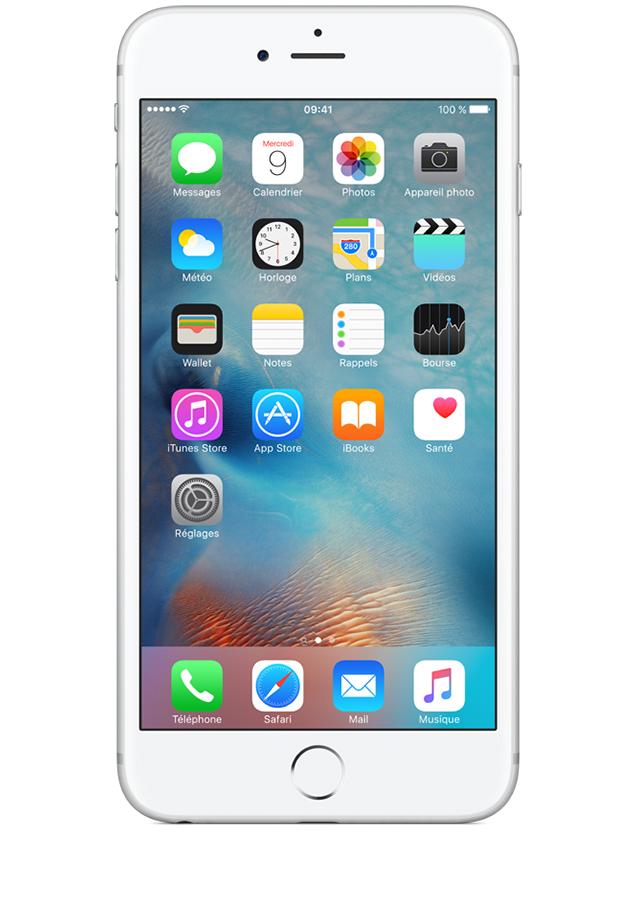 apple iphone 6s plus argent 128go avis prix avec. Black Bedroom Furniture Sets. Home Design Ideas