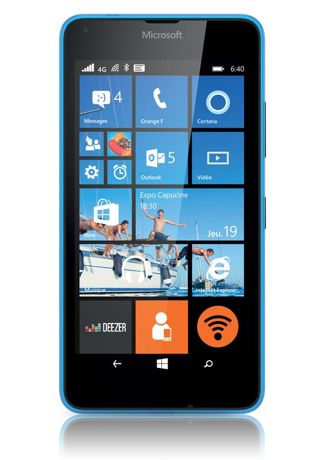 Microsoft lumia 640 bleu mobile avis prix avec forfait for Photo ecran lumia 640