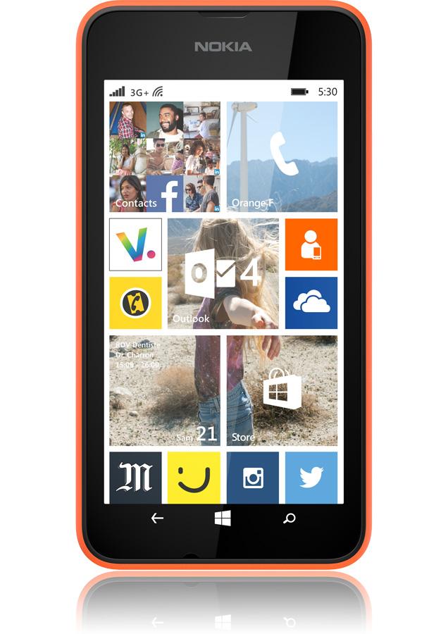 nokia lumia 530 orange 3g cran 4 apn 5mpxls processeur 1 2ghz sosh. Black Bedroom Furniture Sets. Home Design Ideas