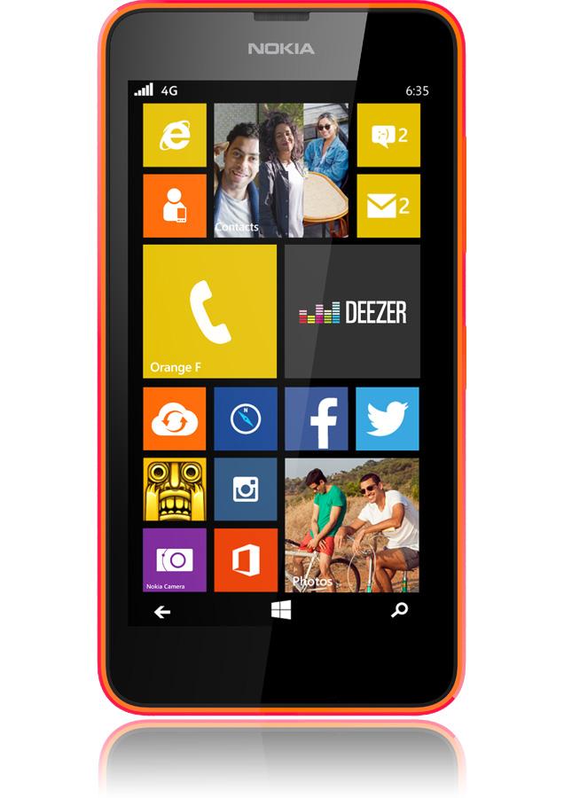nokia lumia 635 orange 4g cran 4 5 apn 5mpxls windows. Black Bedroom Furniture Sets. Home Design Ideas
