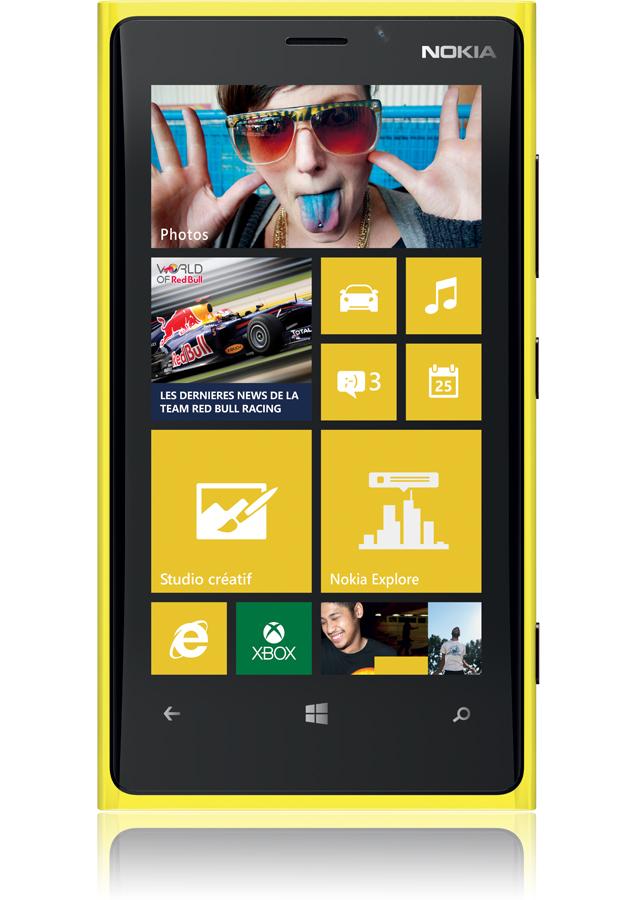 Nokia Lumia 920 jaune, Windows Phone 8 – clavier tactile - Orange ...
