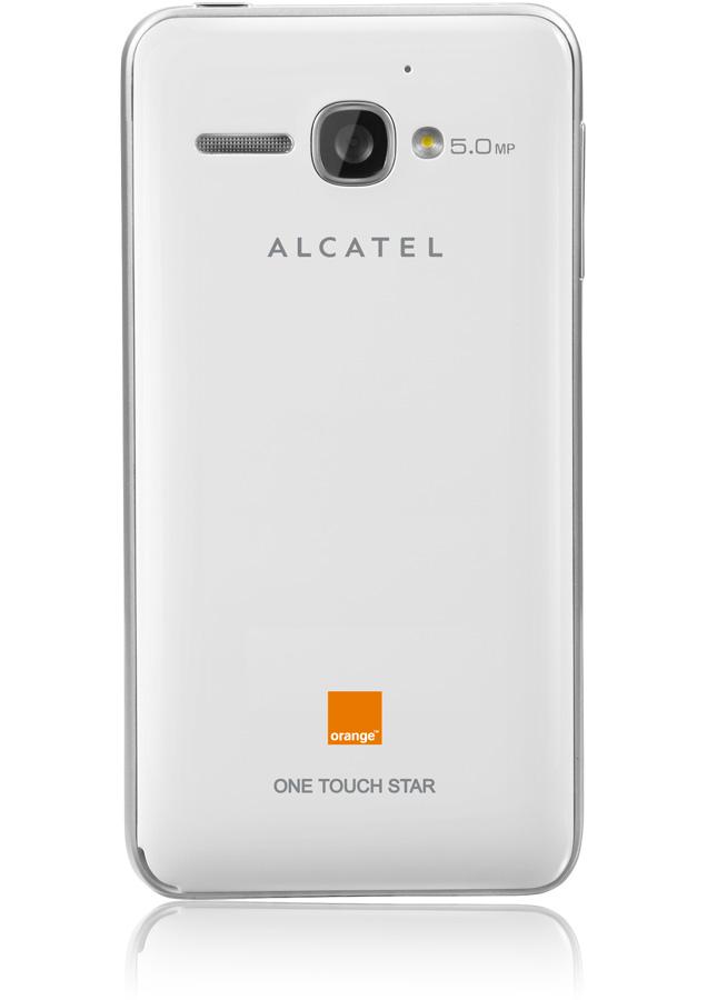 alcatel one touch star blanc reconditionn 4 pouces amoled apn 5 mpxls orange. Black Bedroom Furniture Sets. Home Design Ideas