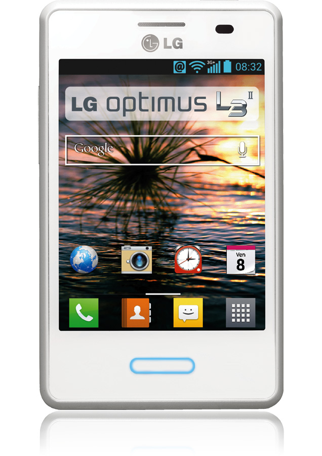smartphone lg optimus l3 ii blanc reconditionn android apn 3 mpxls orange. Black Bedroom Furniture Sets. Home Design Ideas