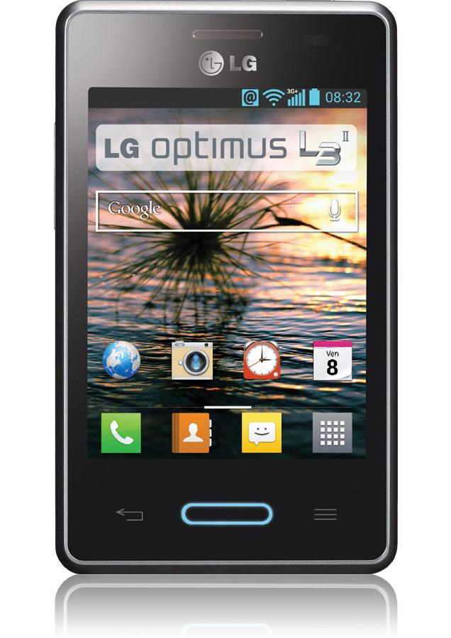 smartphone lg optimus l3 ii titanium reconditionn android orange. Black Bedroom Furniture Sets. Home Design Ideas
