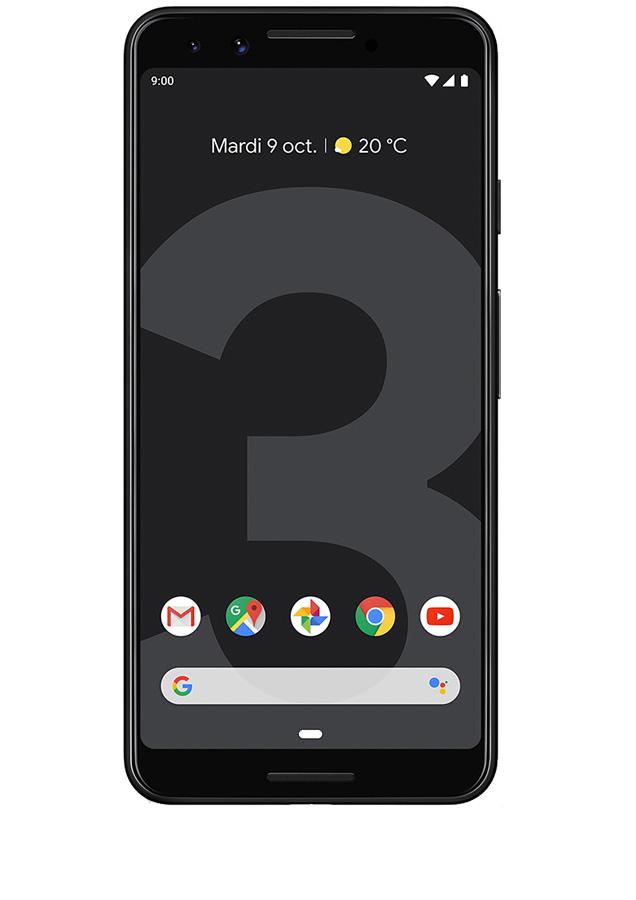 Pixel 3 Noir Vue 1