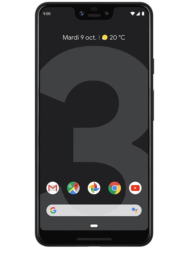 Pixel 3 XL Noir Vue 1
