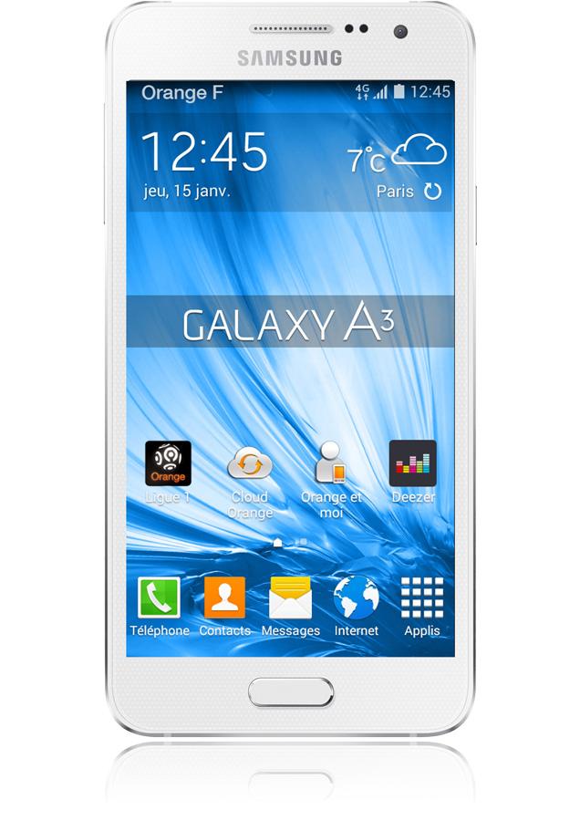 Samsung galaxy a3 blanc smartphone 4g cran 4 5 appareil for Photo ecran galaxy a3