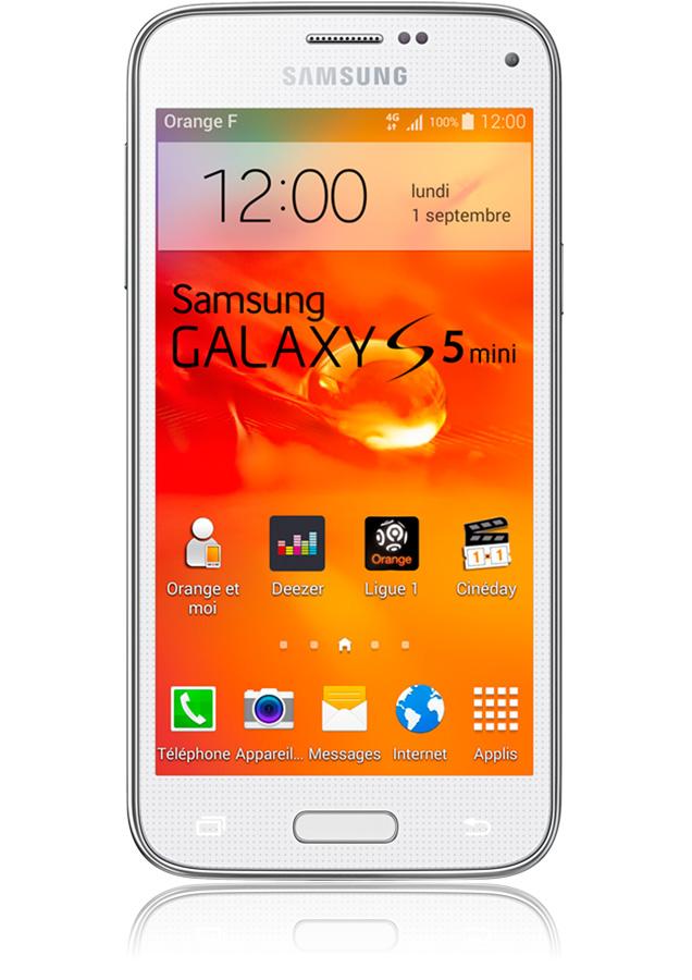 samsung galaxy s5 mini blanc 4g apn 8 mpxls cran 4 5. Black Bedroom Furniture Sets. Home Design Ideas