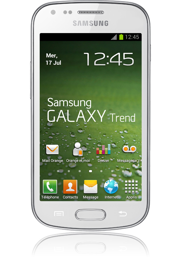 Samsung galaxy trend blanc 3g apn 5 mpxls cran 4 orange mobile - Portable samsung galaxy trend lite blanc ...