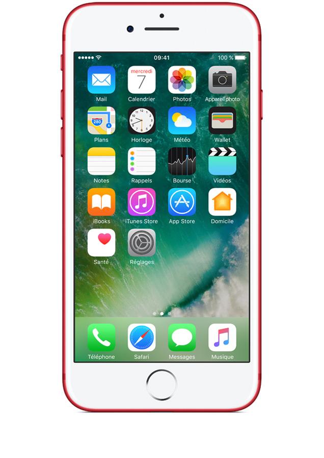 acheter le nouvel iphone 7 red 128go prix avec forfait. Black Bedroom Furniture Sets. Home Design Ideas