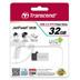 Cle USB Transcend JetFlash 380 32Go argent vue2