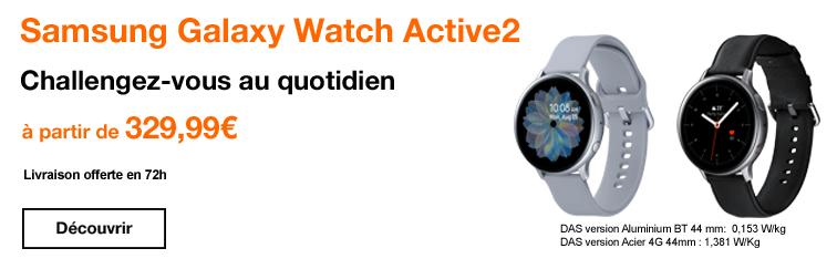 Banniere lancement Galaxy Watch Active2