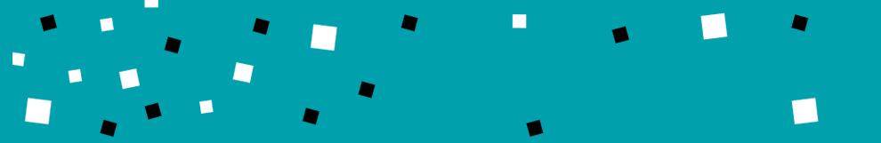 Banniere bleue carrés