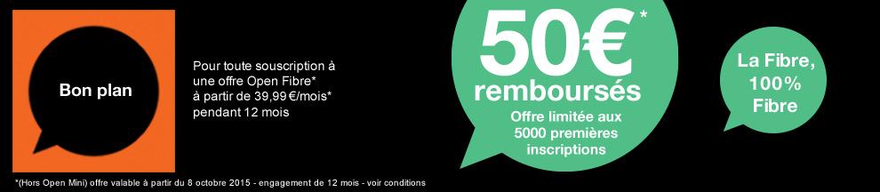 50 rembours s pour toute souscription une offre fibre. Black Bedroom Furniture Sets. Home Design Ideas