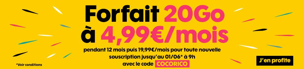 Code promotion Cocorico 20Go