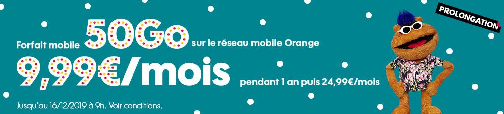 Le forfait mobile 50Go à 9,99€/mois*