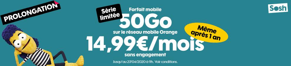 Forfait mobile 50Go Série limitée