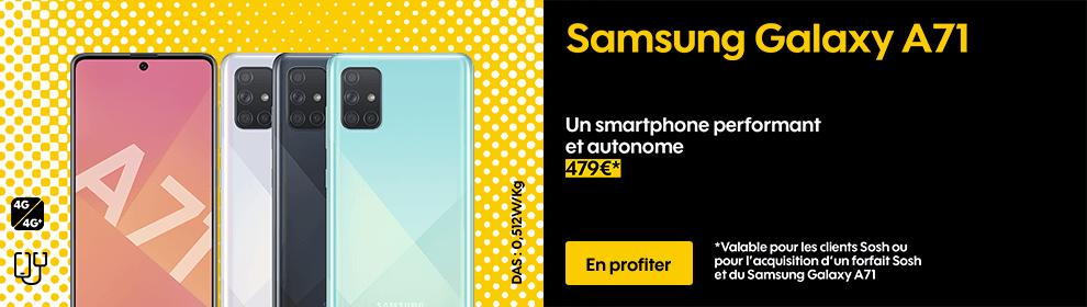 Samsung Galaxy A71, Un smartphone performant et autonome, 479€*