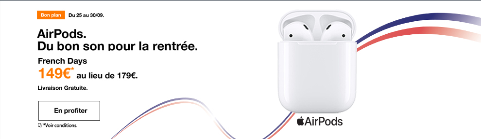 Promotion French Days AirPods