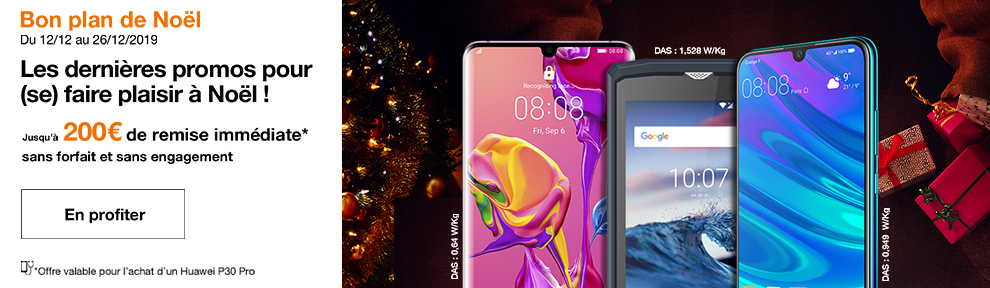 Promotions mobiles Noel