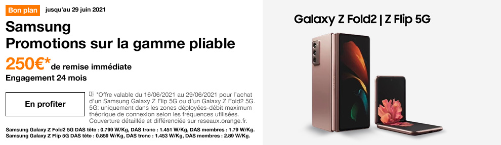 Gamme pliable Samsung