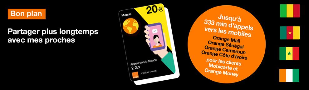 Recharge Monde avec Orange Money