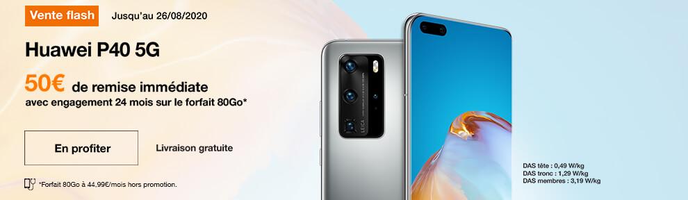 vente flash Huawei P40 5G